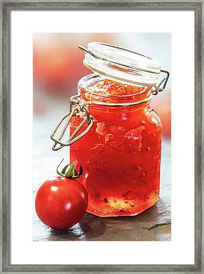 Tomato Jam In Glass Jar Framed Print