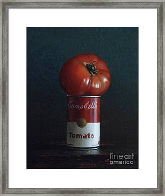 Tomato Soup Framed Print by Larry Preston
