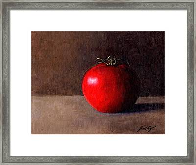 Tomato Still Life 1 Framed Print by Janet King
