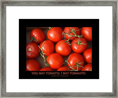 Tomato Tomahto Fine Art Food Photo Poster Framed Print