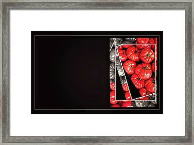 Tomatoes Business Card Template Framed Print