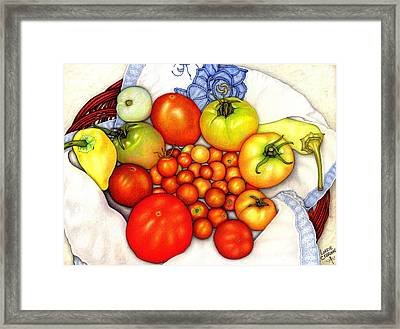 Tomatoes In A Basket Framed Print