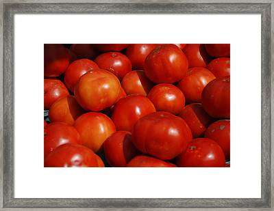 Tomatoes Framed Print by William Thomas
