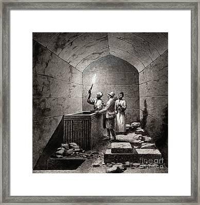 Tomb Chamber Of Menkaura Framed Print