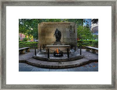 Tomb Of The Unknown Revolutionary War Soldier - George Washington  Framed Print