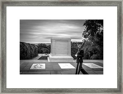 Tomb Of The Unknown Solider Framed Print