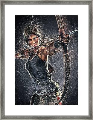 Tomb Raider Framed Print by Taylan Apukovska