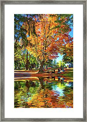 Tomb With A View 2 - Paint Framed Print by Steve Harrington