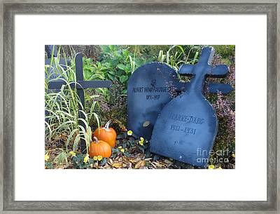 Tombes // Halloween // Gravestones Framed Print by Dominique Fortier