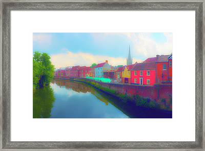 Tombland Canal Framed Print by Jan W Faul