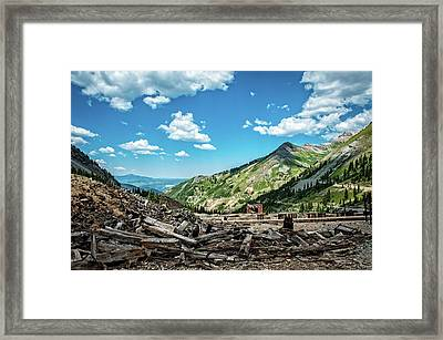 Tomboy Mine  Ghost Town Framed Print by George Buxbaum