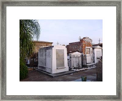 Tombs In St. Louis Cemetery Framed Print
