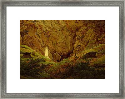 Tombs Of The Fallen In The Fight For Independence Framed Print by Caspar David Friedrich