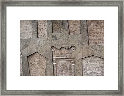Tombstone Wall Framed Print by Juli Scalzi