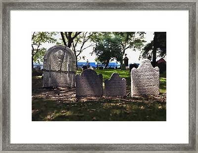 Tombstones Framed Print by Kelley King