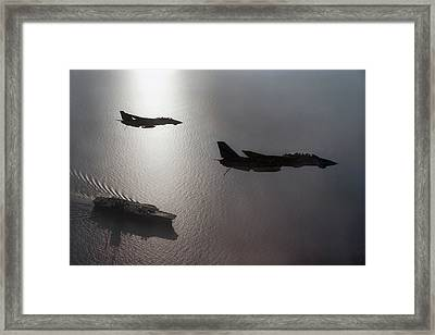 Framed Print featuring the photograph Tomcat Silhouette  by Peter Chilelli