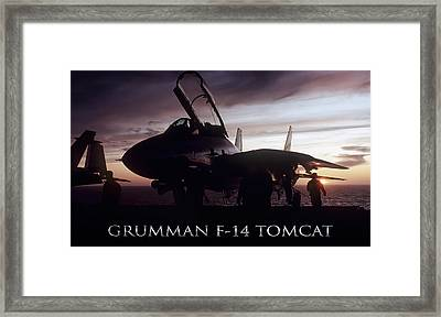 Tomcat Sunset Framed Print by Peter Chilelli