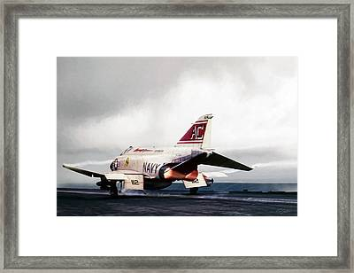 Framed Print featuring the digital art Tomcatter Launch by Peter Chilelli