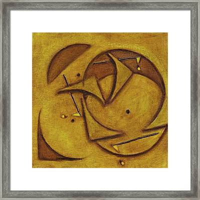 Tommervik Abstract Putting Greens Golf  Art Print Framed Print by Tommervik