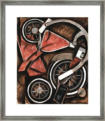 Abstract Tricycle Art Print Framed Print