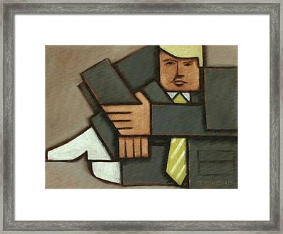 Framed Print featuring the painting Tommervik Absttract Cubism Donald Trump Art Print by Tommervik