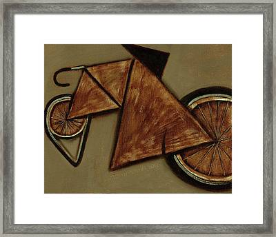 Framed Print featuring the painting Tommervik Art Bicycle Bike Art Print by Tommervik