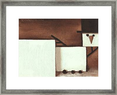Framed Print featuring the painting Tommervik Classical Nude Snowman Art Print by Tommervik