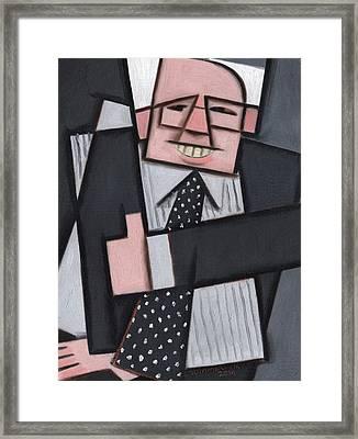 Tommervik Cool Abstract Bernie Sanders Art Print Framed Print by Tommervik
