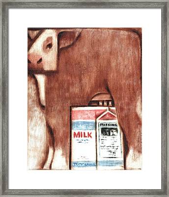 Tommervik Cows Milk Art Print Framed Print by Tommervik