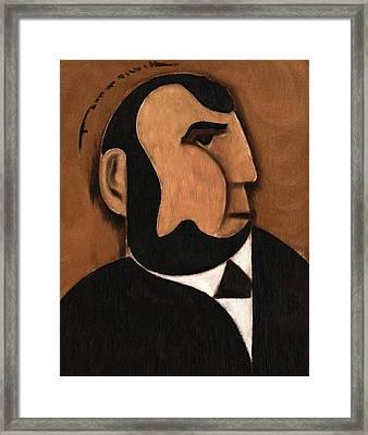 Cubist Abraham Lincoln Art Print Framed Print by Tommervik