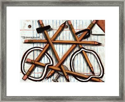Tommervik Orange Bicycle Art Print Framed Print by Tommervik