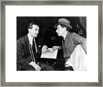 Tommy Dorsey And Hoagy Carmichael, 1939 Framed Print
