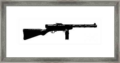 Tommy Gun Tee Framed Print by Edward Fielding