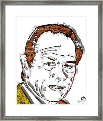 Tommy Lee Jones Framed Print by Dalon Ryan