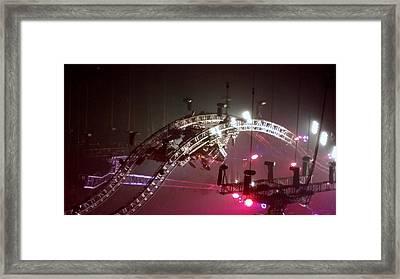 Tommy Lee Motley Crue Farewell Tour Brooklyn N Y 2015 Or Flying Drums Framed Print
