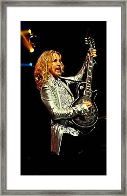 Tommy Shaw Of Styx Framed Print by David Patterson