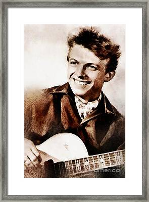 Tommy Steele, British Actor And Singer Framed Print
