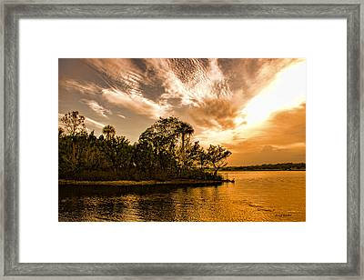 Tomoka River At Sunset Framed Print