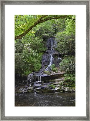 Tom's Branch Falls On Deep Creek Framed Print