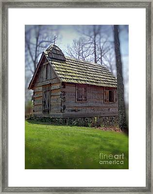 Tom's Country Church And School Framed Print