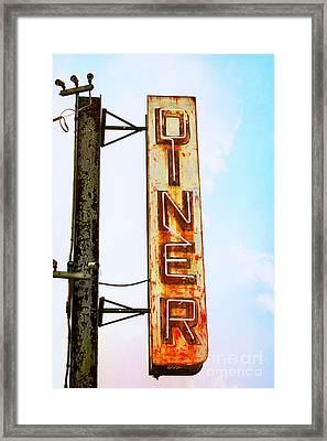Tom's Diner Framed Print