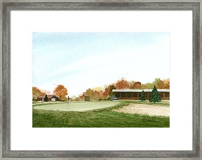 Tom's  Golf Course Framed Print by Sean Seal