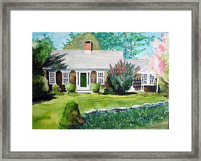 Toms House Framed Print by Ron Imbriglio