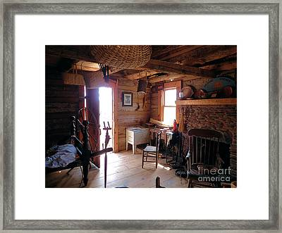 Tom's Old Fashion Cabin Framed Print