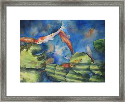 Framed Print featuring the painting Tom's Pond by Mary McCullah