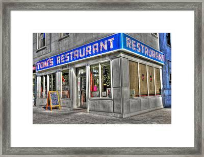 Tom's Restaurant Of Seinfeld Fame Framed Print