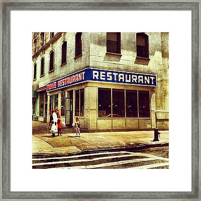 Tom's Restaurant. #seinfeld Framed Print