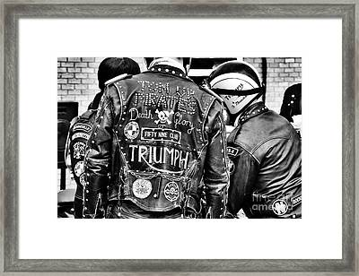 Ton Up Pirates Framed Print by Tim Gainey
