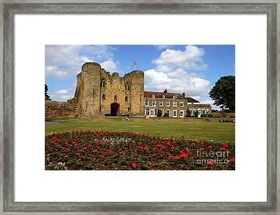 Tonbridge Castle Gardens Kent England Framed Print