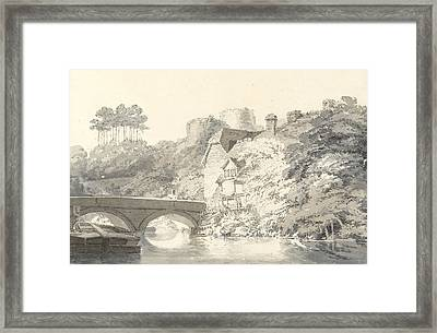 Tonbridge Castle Framed Print by Joseph Mallord William Turner